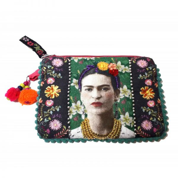 cartera de tela frida