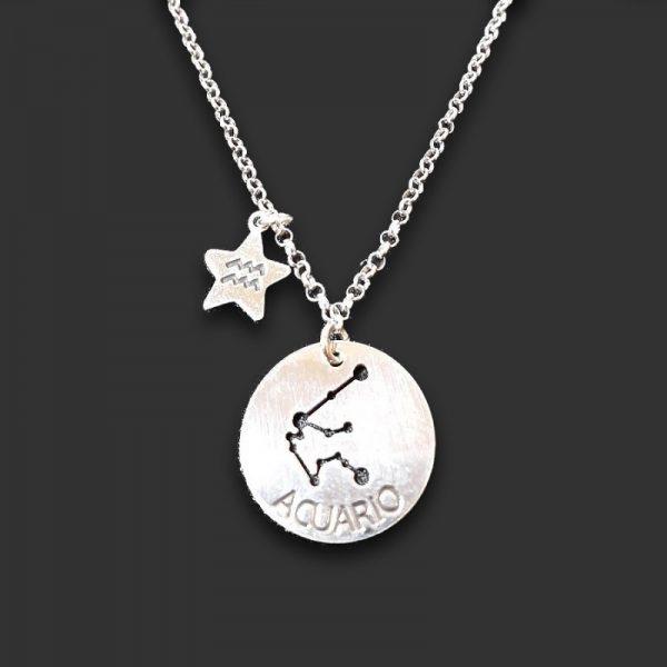 colgante horóscopo y estrella acuario