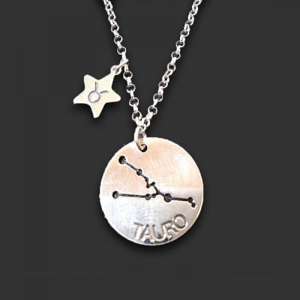 colgante horóscopo y estrella tauro