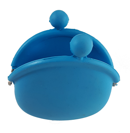 Cartera azul abierta