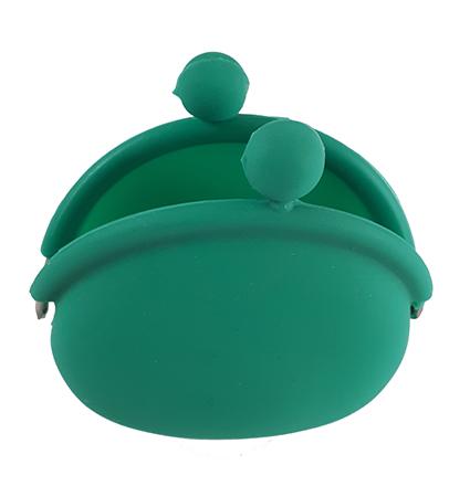 Cartera verde abierta