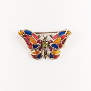 Broche mariposa vidriada