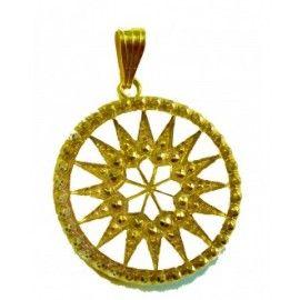 colgante tachyon star sun dorado