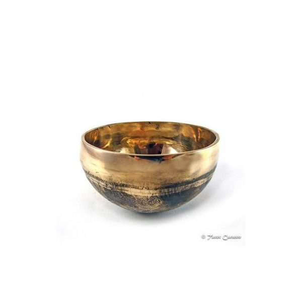 cuenco tibetano ishana 365 grs negro y dorado