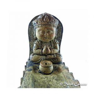 Quemador de incienso Buda Oración